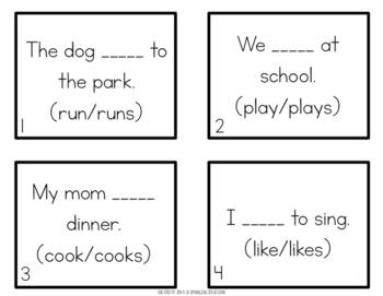 Noun & Verb Agreement Scoot