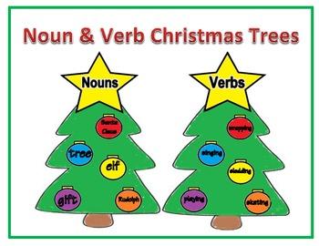 Noun & Verb Christmas Trees