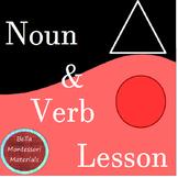Noun & Verb Lesson - Montessori