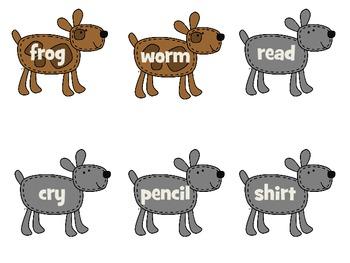 Noun Verb Puppy Sort