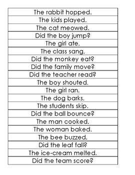 Noun & Verb Sentences by Finding Organization And Fun in the ...