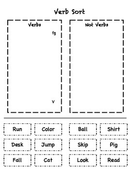 Noun & Verb Sort