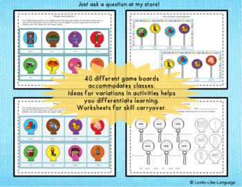 Parts of Speech Activities with Noun and Verb Multiple Meaning Words
