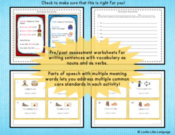 Parts of Speech Sentence Activities with Nouns and Verbs