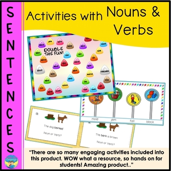 Sentence Building | Activities with Nouns and Verbs | Multiple Meanings