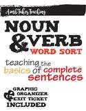 Noun Verb Word Sort