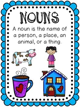 Noun, Verb, and Adjective Activities
