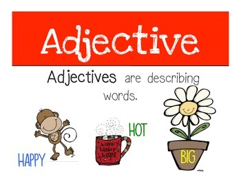 Noun, Verb, and Adjective Posters