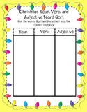 Noun, Verb, and Adjective Sort
