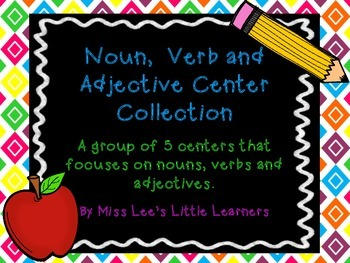 Noun, Verb and Adjective Sort Collection