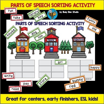 Noun, Verb and Adjective Sorting Activity