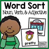 Noun Verb and Adjective Sorting Cards - Grammar Sort