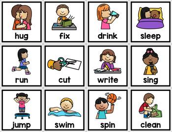 Noun Verb and Adjective Sorting Cards - Grammar Sort