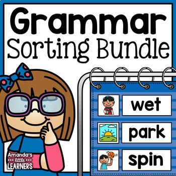 Noun Verb and Adjective Sorting - Mini Bundle