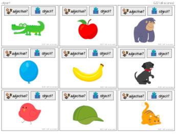 Noun + Verb and Noun + Adjective Task Cards [ABLLS-R Aligned G21, G22]