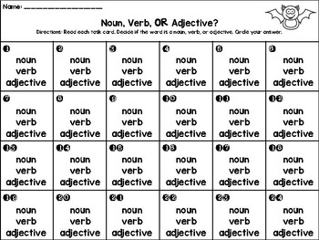 Noun, Verb, or Adjective? Scoot