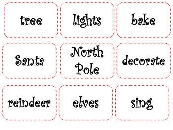 Noun, Verbs, and Adjective Sort: Holiday Theme