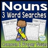 Noun Word Search: 3 Noun Word Searches (Proper & Common Nouns Activity)