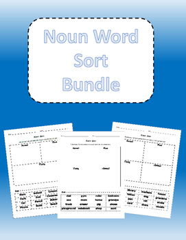Noun Word Sort Bundle