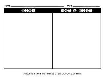 Noun Word Sort
