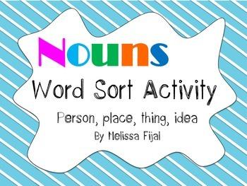Noun Word Sort Activity