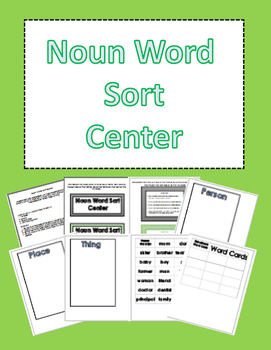 Noun Word Sort Center