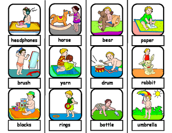 Noun Words (BABY THEMED) File Folder Matching Task for Autism