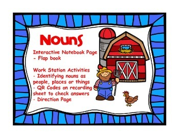 Noun Work Station and Interactive Notebook Page