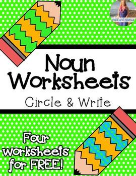 Noun Worksheet:  Circle and Rewrite *FREEBIE*