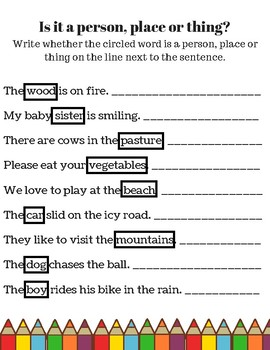 photo about Printable Noun Worksheets called Noun Worksheet Mounted, Noun Product, Nouns, Nouns Printable, Nouns Pursuits