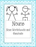 Noun Worksheet and Handout Packet