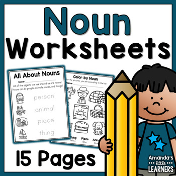 Noun Worksheets - Person, Place, or Thing?