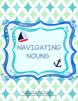 Parts of Speech: Nouns (Printable Packet: Speech Therapy,