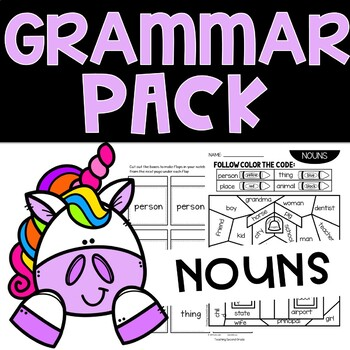 Noun Worksheets for 1st and 2nd Grade by Teaching Second ...