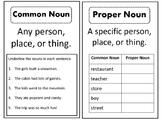 Noun Worksheets or Interactive notebook materials - Common & Proper Nouns
