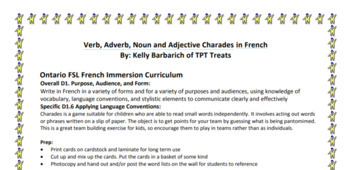 Noun, adjective and adverb charades in French