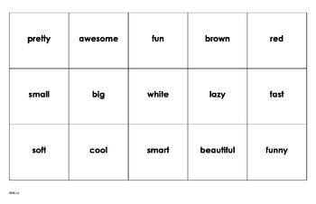 Noun, adjective and verb sort
