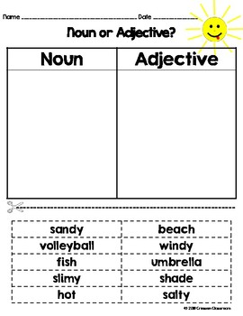 Adjectives and Noun Review