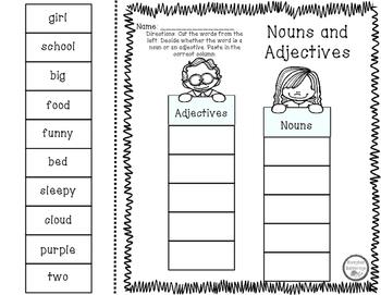 Noun and Adjective Sort