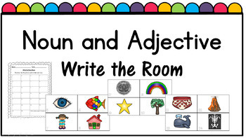 Noun and Adjective Write the Room Packet