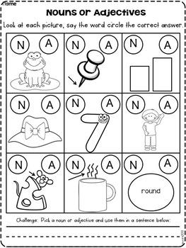 Noun and Adjectives Fall Fun