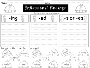 Noun and Inflectional Ending Practice