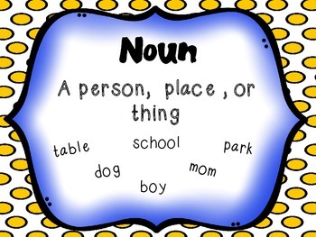 Noun and Pronoun Sort
