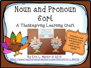 Noun and Pronoun Thanksgiving Learning Craft