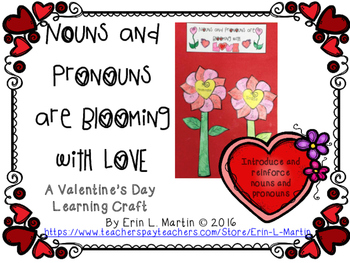 Noun and Pronoun Valentine's Day Learning Craft