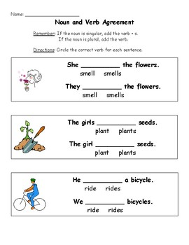 Noun and Verb Agreement Practice