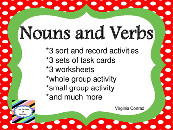 Noun and Verb Centers and Much More
