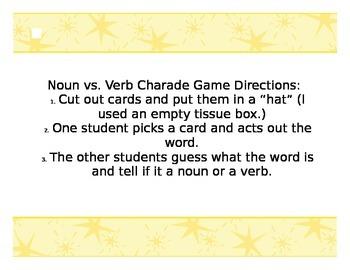 Noun and Verb Charades