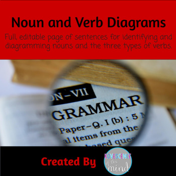 Noun and Verb Identification and Diagrams