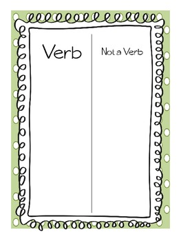 Noun and Verb Introduction Packet